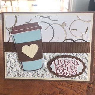 Coffee card to lift a friends spirits