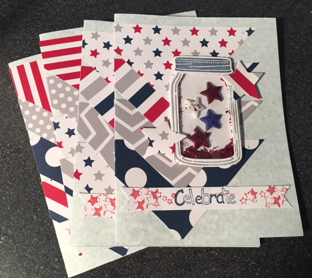stack of independence day invitation cards
