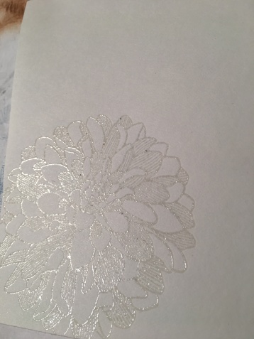 Versmark Dahlia stamp embossed clear
