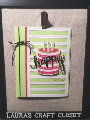 Paper Pumpkin June 2018 Broadway Star birthday card alternative using scraps