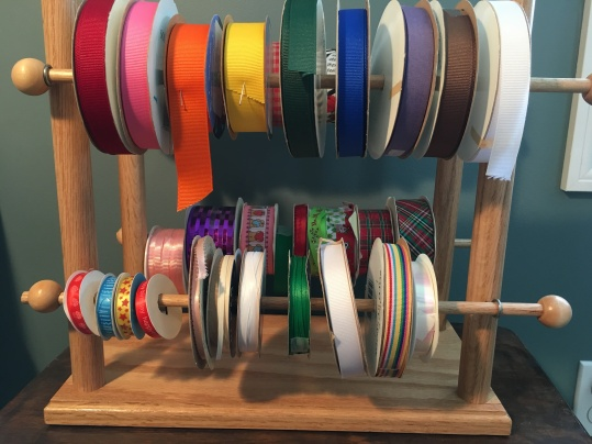 handmade ribbon holder organization