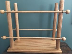 handmade wooden ribbon holder organization