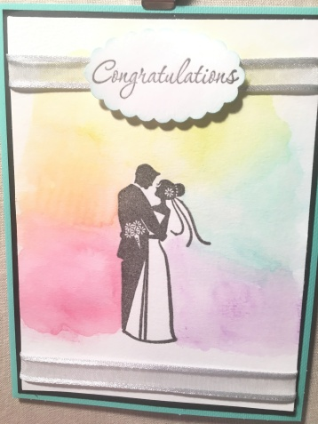 wedding congratulations watercolor card