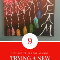 If you don't like something, you can just paint over it. Tips for anyone trying a new craft!