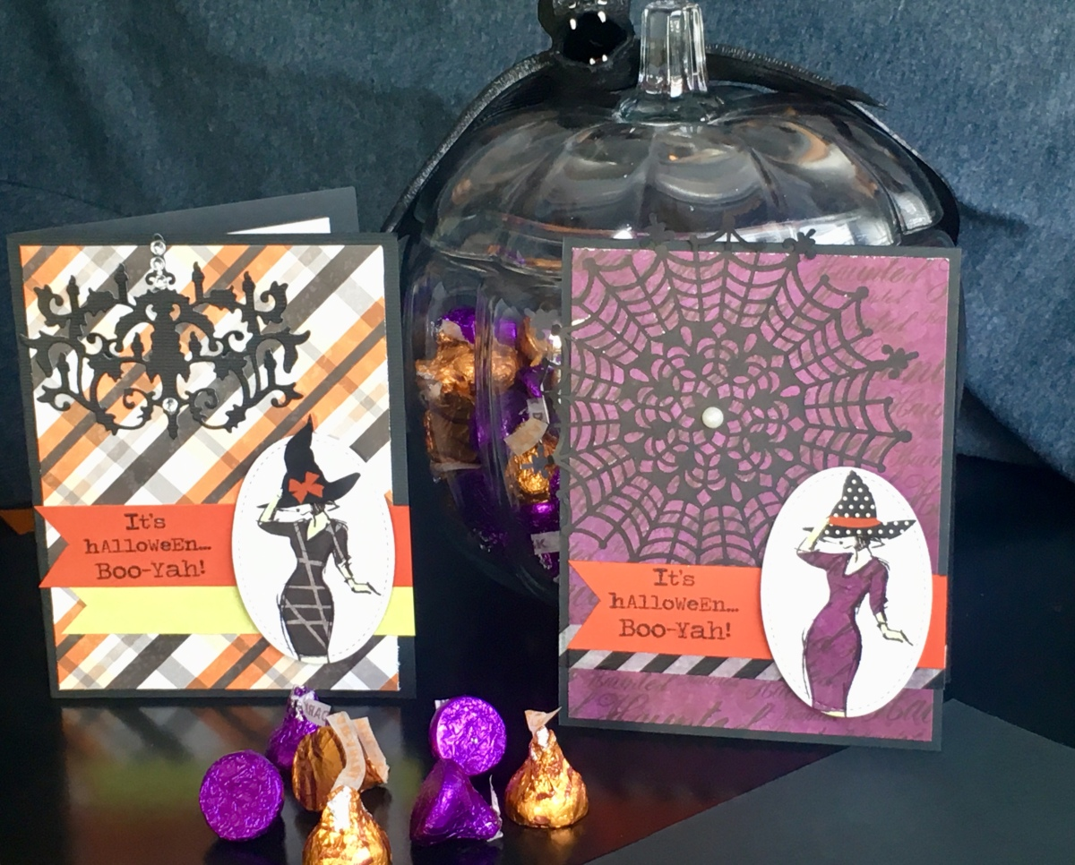 halloween cards made from the beautiful you stampin up stamp set