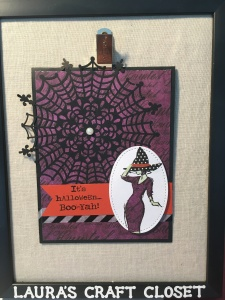 Halloween card made with the Stampin Up Beautiful you stamp set and purple DSP