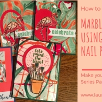 Marble Watercolor Paper with Nail Polish and Make Your Own Designer Series Paper