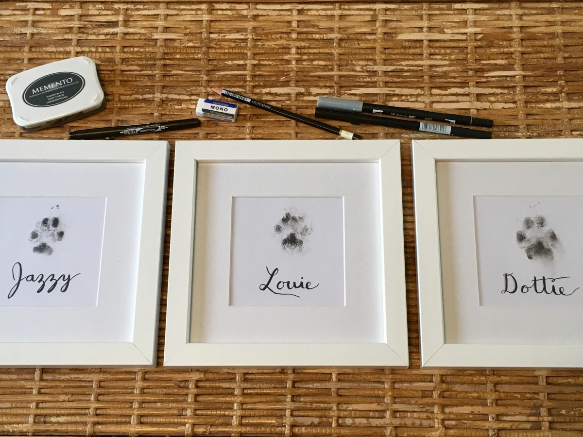 Diy Pet Paw Print Personalized Wall Art Easy As Ink