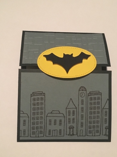 trifold batman signal card