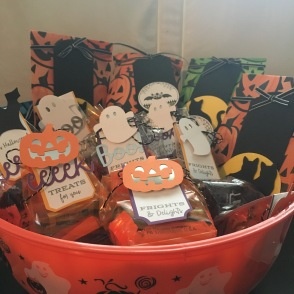 trick-or-treat bags of candy from September 2018 Paper Pumpkin
