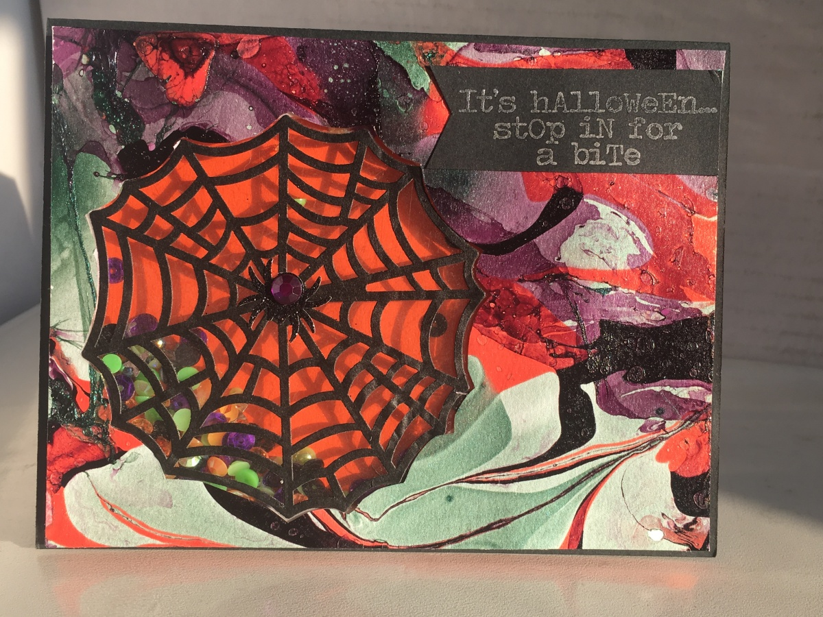 Spiderweb Shaker Card for Halloween