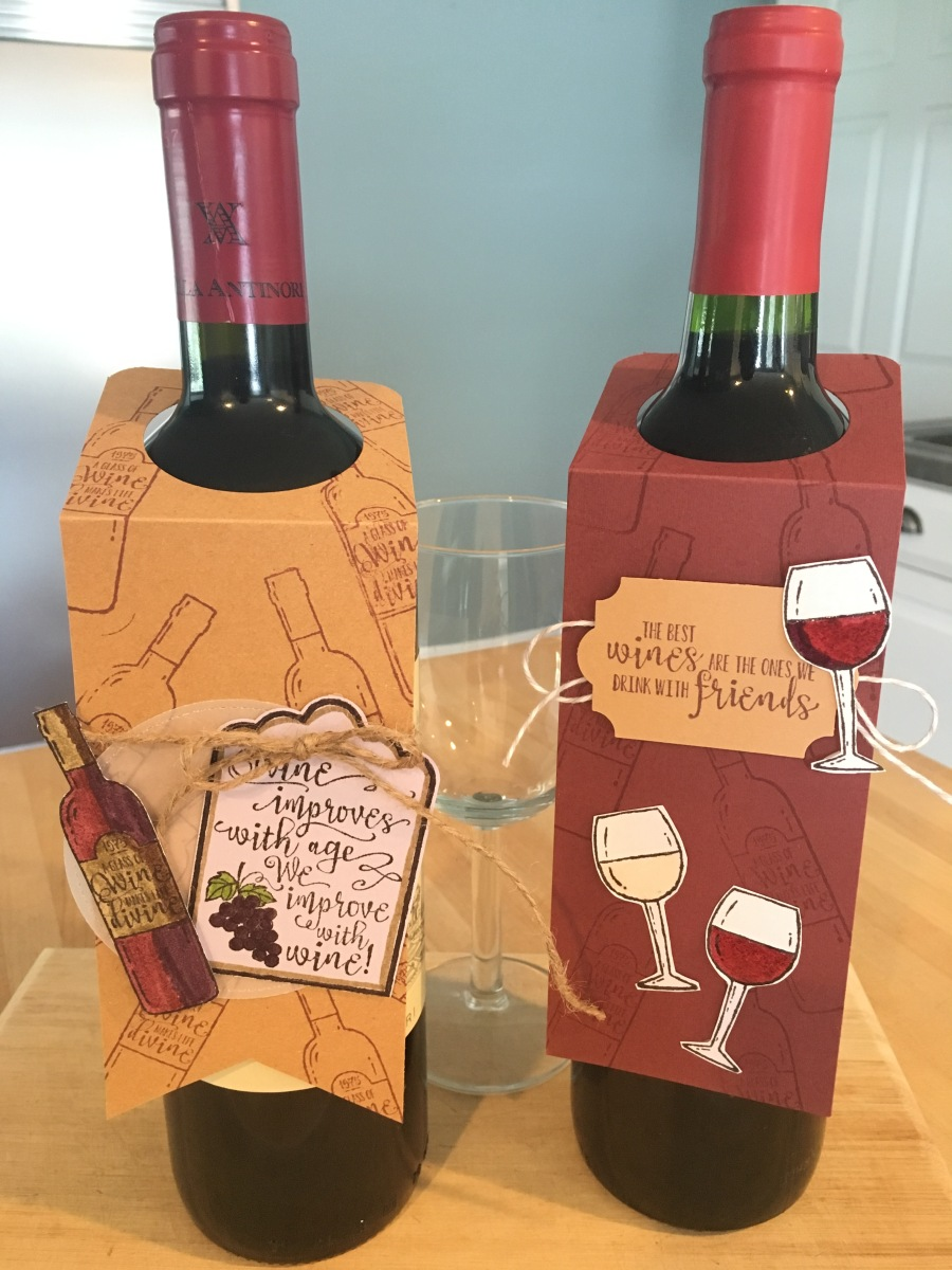 An Easy to Make Wine Bottle Tag for your next holiday party!