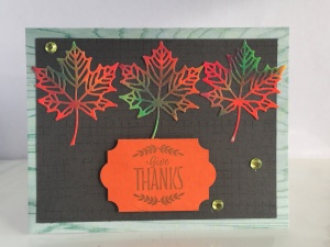 Thanksgiving Colorful maple leaves Card