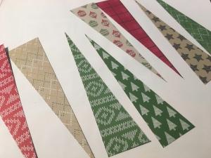 cut strips diagonally for starburst