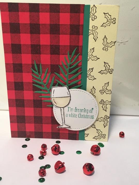 wine christmas card