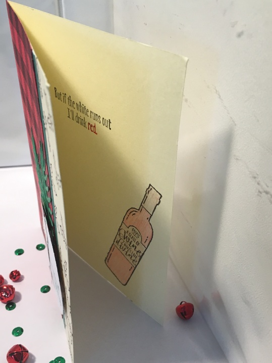 wine christmas card inside