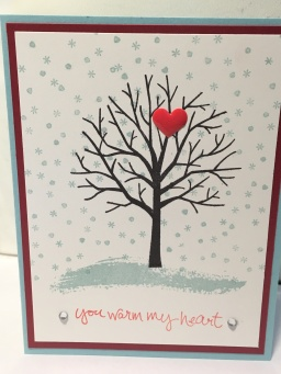 holiday card with sheltering tree