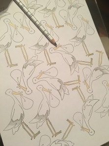 storks stamped in multiple for efficiency