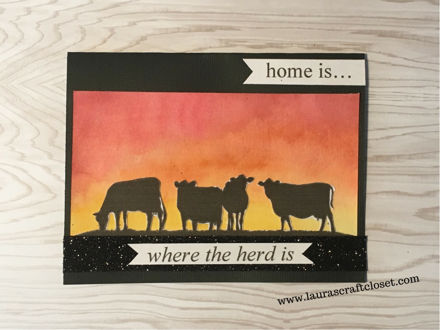 cow silhouette card