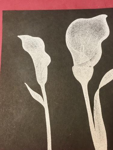 lily chalkboard technique
