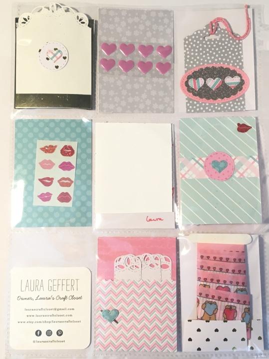 backside of pocket letter valentines